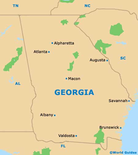 Atlanta Maps And Orientation Atlanta Georgia GA USA - Maps of georgia usa