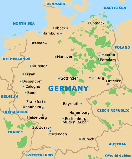 Germany Tourism And Tourist Information Information About Germany - Germany map dortmund