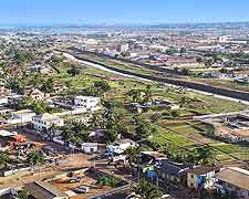 Panoramic view of Accra