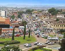 View of roads and traffic in Accra