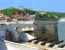 View of the famous Cape Coast Castle