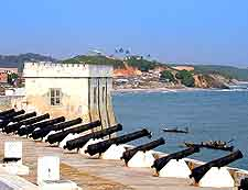Further view of the Cape Coast Castle and its cannons