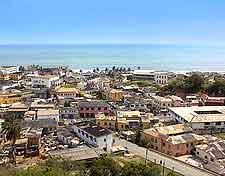 View of the scenic Cape Coast