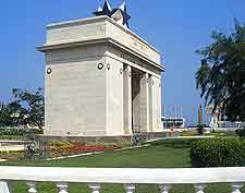 Image of the Independence Arch at Accra