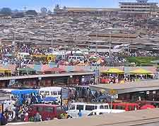 View of local market at Kumasi