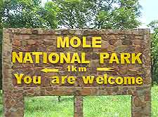 Photo of signpost to the Mole National Park