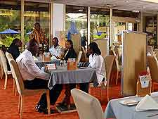 Image of diners at the Novotel Hotel in Accra
