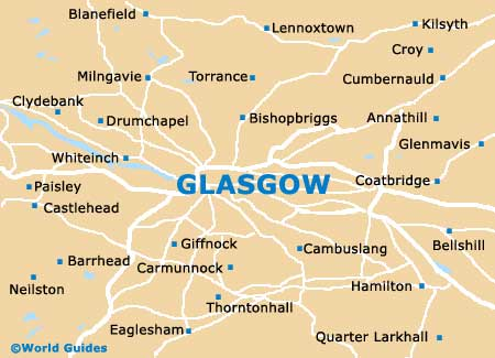 Small Glasgow Map