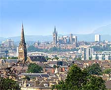 Photo showing the city of Glasgow, Scotland viewed from Queen's Park, image taken by John Lindie