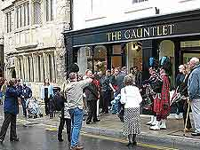 Picture of tourists in the town centre