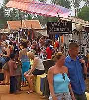 Picture of flea market at Anjuna