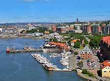 Aerial picture of Gothenburg's port