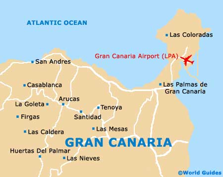 Map Of Spain Gran Canaria.Gran Canaria Maps And Orientation Gran Canaria Canary Islands Spain