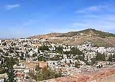 Aerial shot of Granada