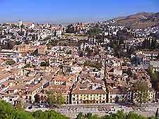 Aerial view of Granada, Spain