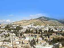 View of Granada featuring the Albayzin Walls