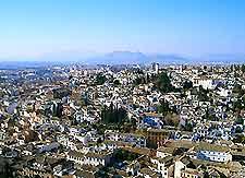 Aerial view photo of Granada