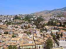 Aerial photo of Granada cityscape