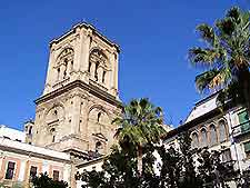 Image of the tower of Granada's Santa Maria Cathedral