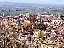 Cityscape with view of the Cathedral in Granada