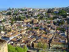 Aerial cityscape photo of Granada