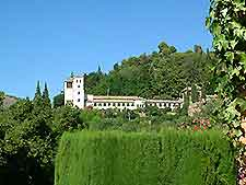 Further view of the famous Generalife Gardens, Granada