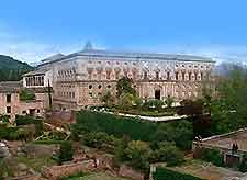 Image of the Palace of Carlos V. Alhambra location of the Museum of Fine Arts