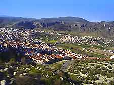 View overlooking the village of Loja near Granada