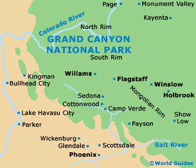 Small Grand Canyon Map