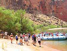 Photo of white-water rafting in the Grand Canyon, Arizona (AZ), USA