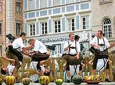 Picture of Austrian dancing in the city centre
