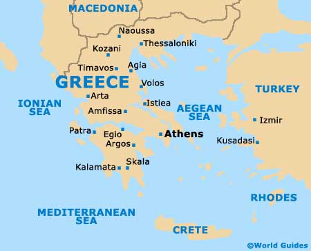 Greece tourism and tourist information information about greece map of greece gumiabroncs Choice Image