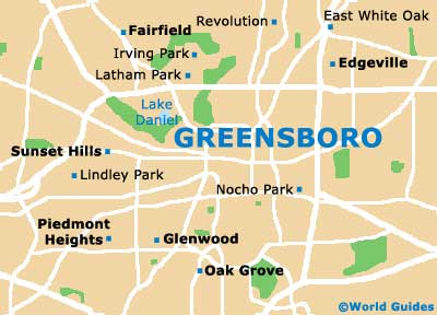 Greensboro Maps and Orientation Greensboro North Carolina NC USA