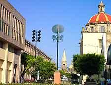 View of Guadalajara's Calle Hidalgo
