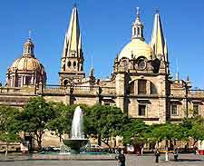 Photo of the city's cathedral and adjacent plaza