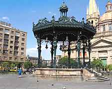 View of gazebo on the Plaza de Armas