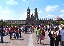 View of the Zapopan and sightseeing tourists