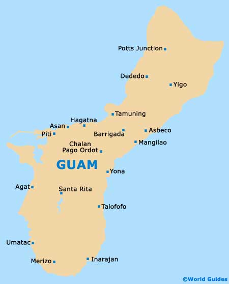 Map of Guam Antonio B. Won Pat Airport (GUM): Orientation and Maps ...