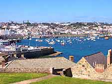 Guernsey Airport (GCI) Travel and Transport: Photo of St. Peter Port
