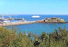 Guernsey's Castle Cornet view