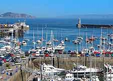 View of St. Peter Port harbour