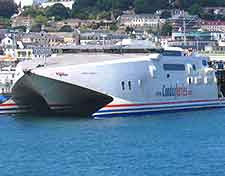 Guernsey Airport (GCI) Airlines and Terminals: Image showing arriving 'Condor' ferry