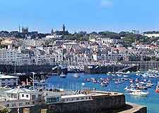 Guernsey Information and Tourism: Picture of St. Peter Port in the summer