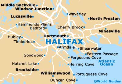 Small Halifax Map