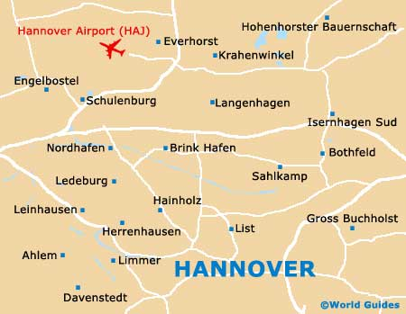 Map of Hannover Langenhagen Airport HAJ Orientation and Maps for