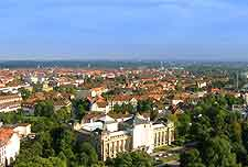 Aerial photograph showing Hanover