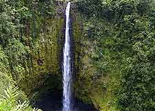 View of the breathtaking Hawaii Big Island Akaka Falls