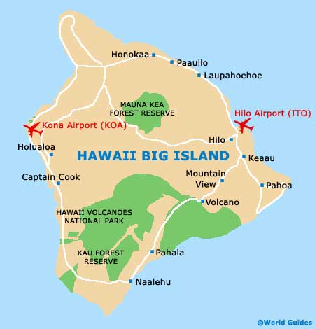 Small Hawaii Big Island Map