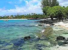View of Kikaua Point Beach