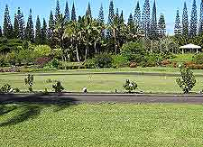 Hawaii Big Island view of Nani Mau Gardens